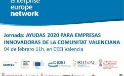 4 DE FEBRERO | Ayudas 2020 para empresas innovadoras de la Comunitat Valenciana